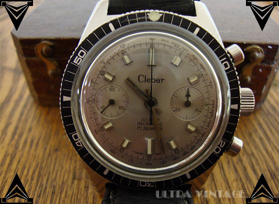 Clebar Stainless Steel 20ATM 2-Register Chronograph