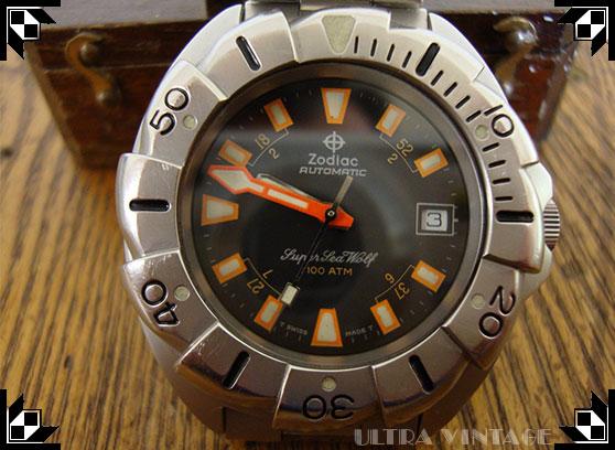 Zodiac Super Seawolf 100ATM Automatic