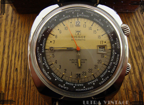 Tissot Visodate T-12 Navigator Seastar World Time Super Compressor