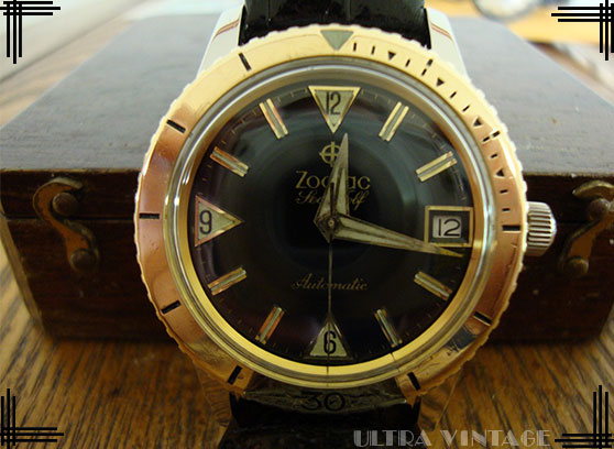 Zodiac 2-Tone Seawolf Automatic with Solid Gold Bezel