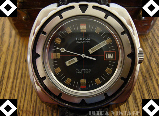 Bulova Snorkel 666ft Automatic with Unique Oversized Metal Bezel