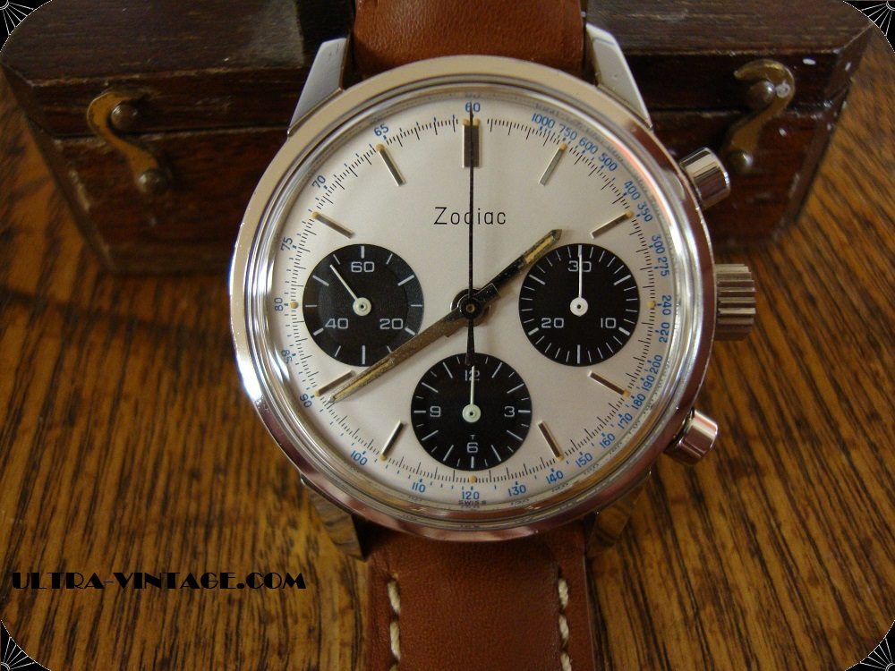 Zodiac Valjoux 72 3 Register Chronograph
