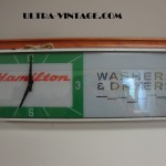 Hamilton Washer & Dryer Advertising Clock