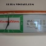 Hamilton Washer & Dryer Advertising Clock