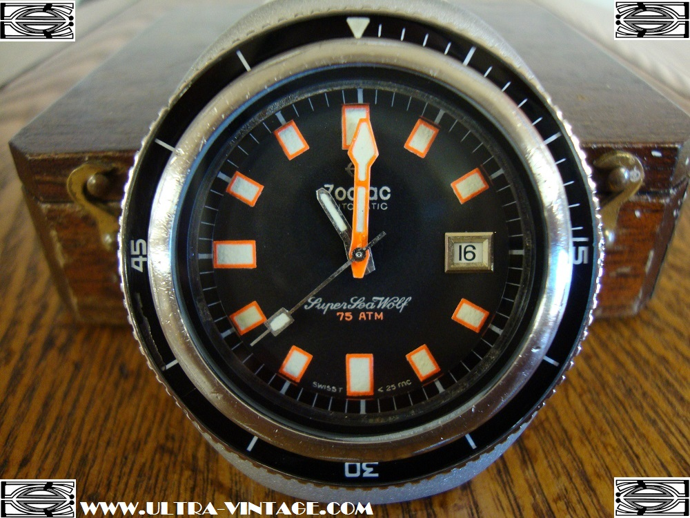 1960s Zodiac Super Seawolf with Caliber 70-72 Automatic