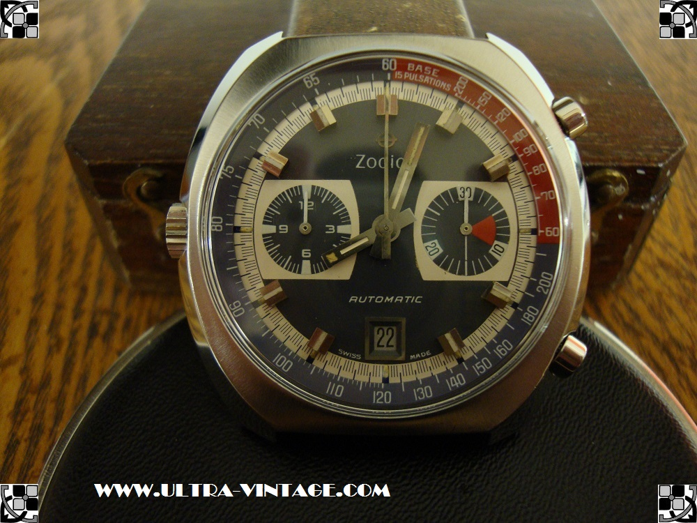 1970's Zodiac Caliber 90 Chronograph (Caliber 12) After